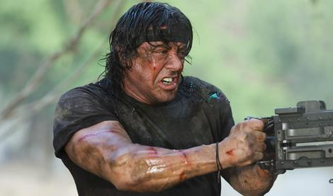 Movies; Sylvester Stallone in the film Rambo IV To Hell And Back
