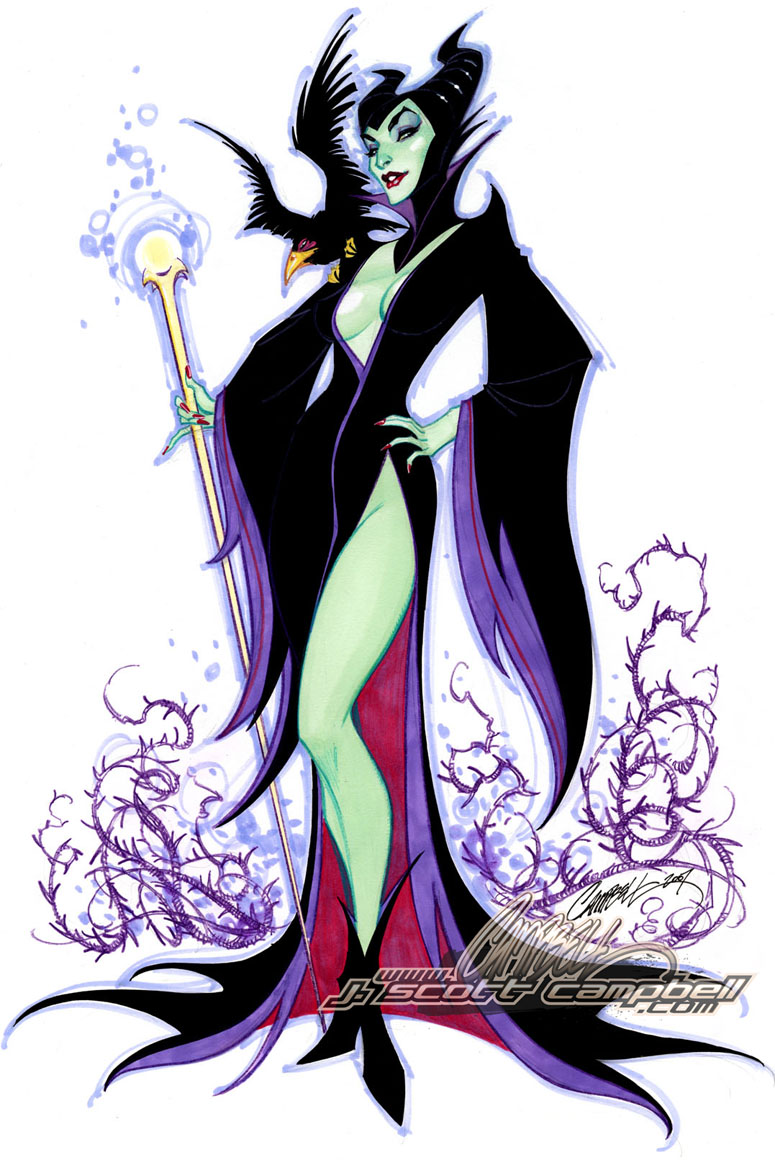 Maleficent_by_J_Scott_Campbell