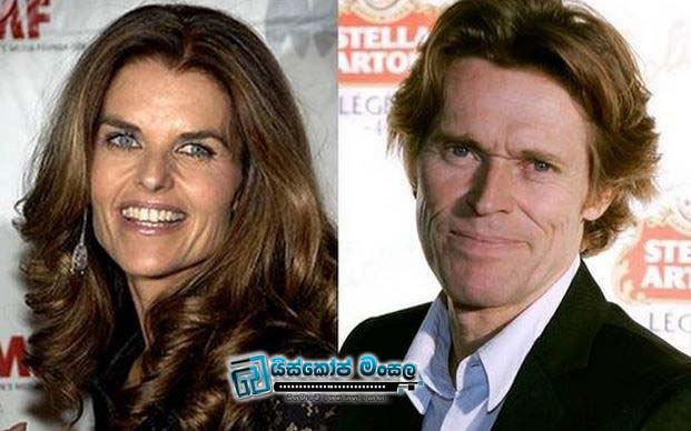 Maria-Shriver-and-Willem-Dafoe